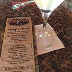Drink side of Happy Hour menu