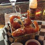 Shrimp Kisses with onion strings!