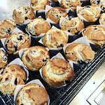 Muffins baked daily