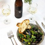 Local Basalt Wine with Organic Spencer Gulf Mussels