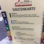 Saucenkarte für die Grillsachen