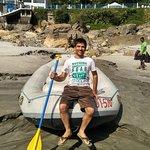 Before Start the Rafting at Marina beach