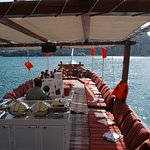 Upper Deck of the cruise/ boat in oman musandam tour