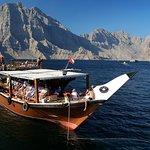 boat pic in oman musandam dibba tour from dubai