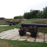 One of the cannon restoration displays