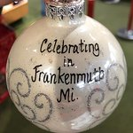 They will write whatever you want on the ornaments!
