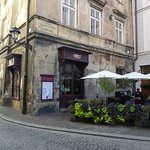 Cafe Camelot in the back streets of Krakow.