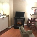 Adequate wet bar inside the room along with fire to toast yourself!!!