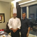 With Junior Sous Chef Ameya