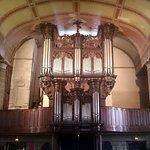 Impressive organ above the entrance