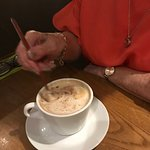 Cappuccino with a long spoon!