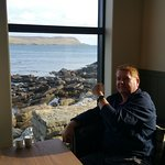 View out to Bressay from the sofas