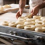 Making the bagels fresh