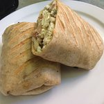 Excellent Chicken and Olive Wrap on Whole Wheat.....YUMMY