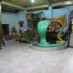 Statue of snakes protecting ShivLing