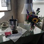 Optional bubbly and flowers waiting in room!