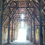 Inside the tithe barn.