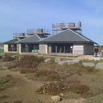 Chesil Beach Visitor's Centre overlooks the huge shingle bank and The Fleet lagoon.