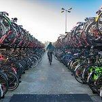 Bike parking outside of Centraal Station.