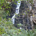 small waterfall on road to woody bay