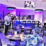 Band playing at restaurant