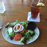 Mixed green salad with balsamic vinaigrette at Fager's Island Restaurant, Ocean City, MD