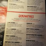 sandwiches, salads and soups