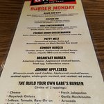 Burger Monday list