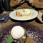 These were very generous. Sticky Toffee Pudding and Bread & Butter pudding.