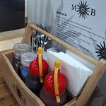 Table condiments and menu