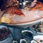 Peek at the Seafood tower