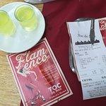 A waiter's surprise for us: Limoncello