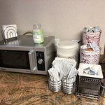 Tip Jar on Microwave
