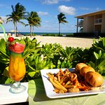 Cayman Sands Frozen drink and Sliders