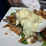 Two of the Tavern's breakfast specials last Sunday. Steak Egg Benedict and the Complete Breakfas