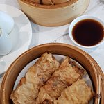 Beef dumplings(top) and Bean Curd rolls (I think)