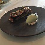 Fig franzipanr and  Thai basil ice cream