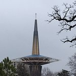 The building that looked like a spaceship on the ORU campus.