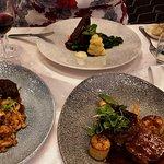 Beef steak, Springbok shank, and Ostrich steak