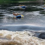 A flotilla of rafts approaches one of the Ottawa's many exciting rapids.