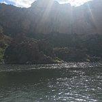 Canyon Lake sun on water
