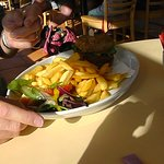 Vegetable Burger and Chips