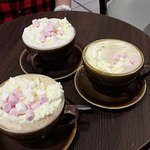 Yummy hot chocolates from the café