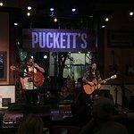 Band playing at Puckett's