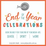 Book your end of year celebrations with Jetjas today. 58218482