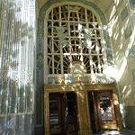 entrance doors.