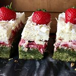 Strawberry, Mint & White Chocolate Slice