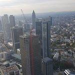 The stunning view of the skyscrapers of Frankfurt.
