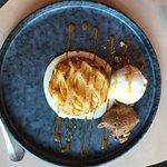 Pomme caramel chocolat, glace vanille