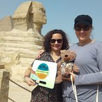 With the Sphinx in Giza